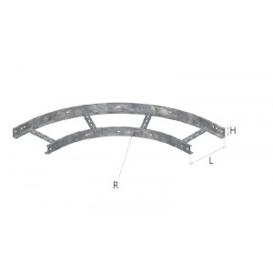 Coude à 90 PVC - 100x600