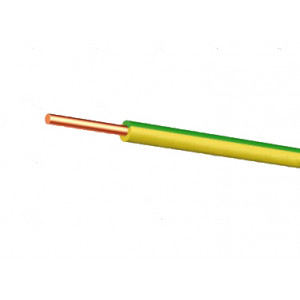 H07VU 1,5 Vert Jaune - 100m