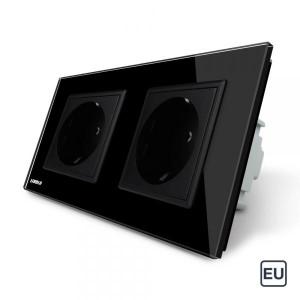 Double prise de courant EU 16A - Noir
