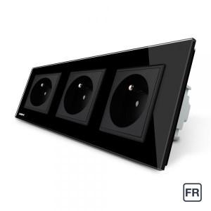 Triple prise de courant FR 16A - Noir