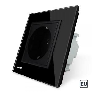 1 Prise de courant EU 16A - Noir
