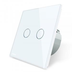 Interrupteur d'éclairage double blanc
