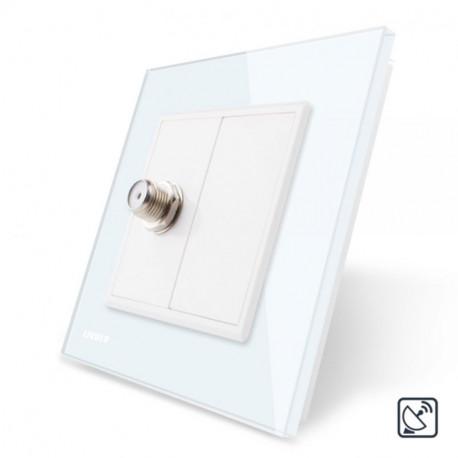 Prise satellite simple - Blanc