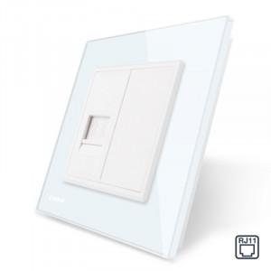 Prise téléphone RJ11 simple - Blanc