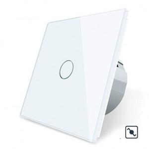 Télérupteur tactile simple blanc