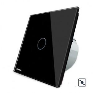 Télérupteur tactile simple noir