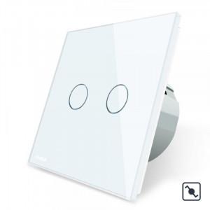 Télérupteur tactile double blanc
