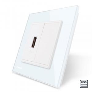 Prise USB murale - Blanc