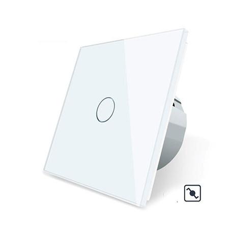Variateur tactile simple blanc