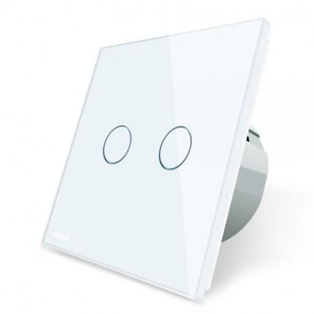 Interrupteur d'éclairage simple blanc