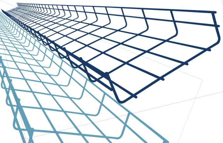 Chemin de câbles fil en couleur epoxy
