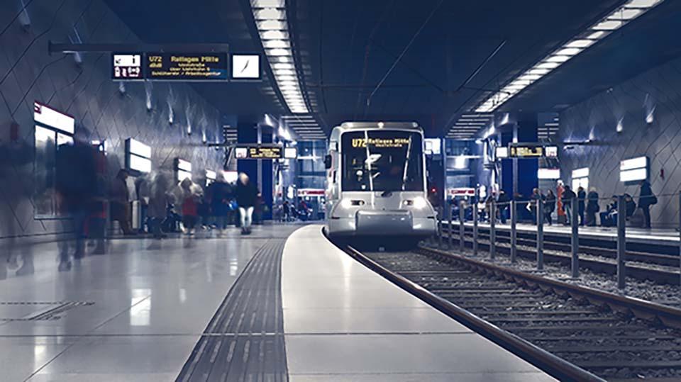 grand projet d'installation de chemin de câbles et support pour métros et tunnels