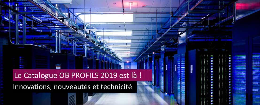 Nouveautés chemin de câbles catalogue OB Profils 2019